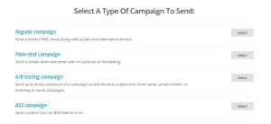 mailchimp kampagne auswaehlen